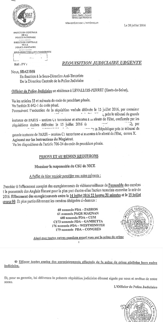 Truth Switzerland  Translated Letter From French Police With
