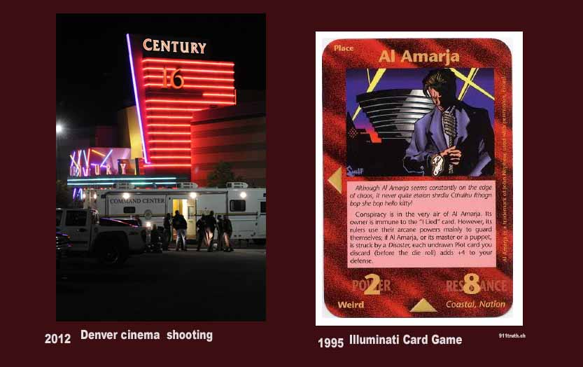Denver Aurora Cinema shooting Illuminati card game