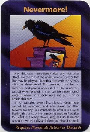 Nevermore! (Assassins) Illuminati Card New World Order