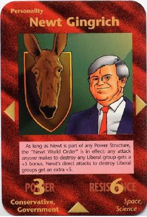 Newt Gingrich (Assassins) Illuminati Card NWO