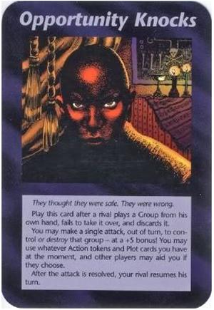 Opportunity Knocks (UE) Illuminati Card NWO