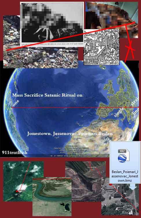 kmz google earth satanic ley lines Beslan Jonestown Dracula Jassenovac