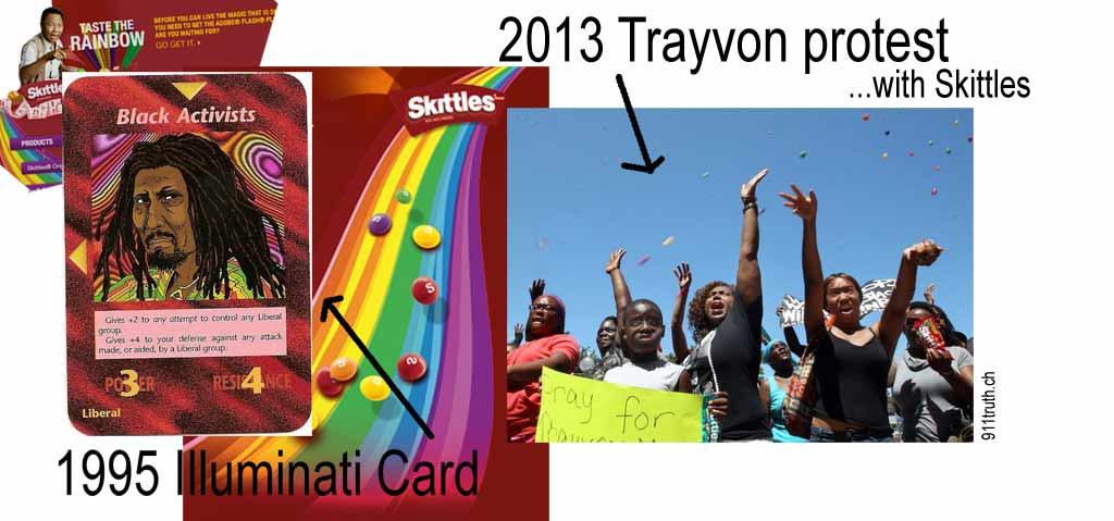 Trayvon illuminati card Black Activists